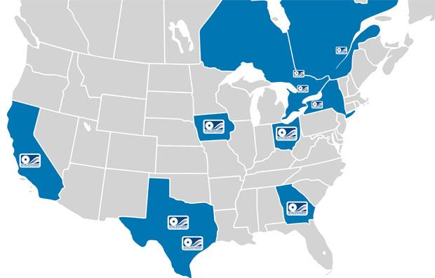 North American Distribution Warehouses